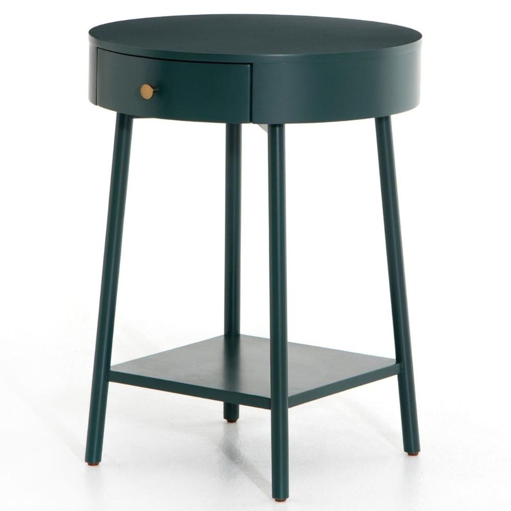 Van Modern Juniper Green Round Nightstand In 2020 Round