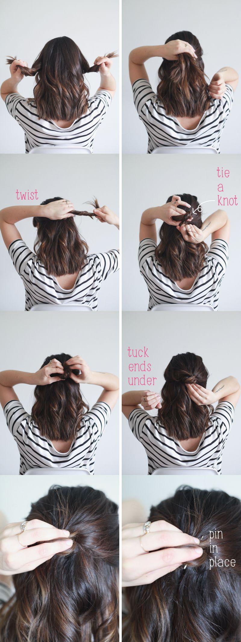 Hair tutorial half up knot in easy steps tutorials hair