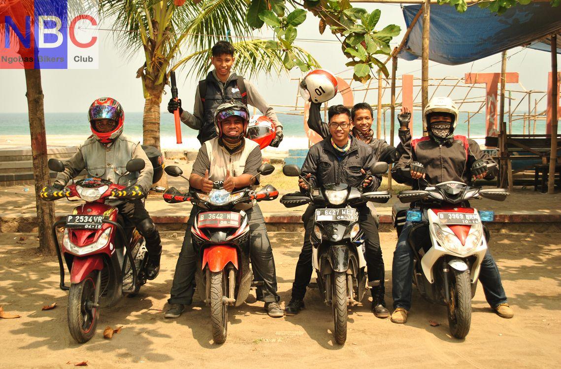 Bikers NBC saat mau melanjutkan ke Sukabumi dari Pelabuhan ratu.