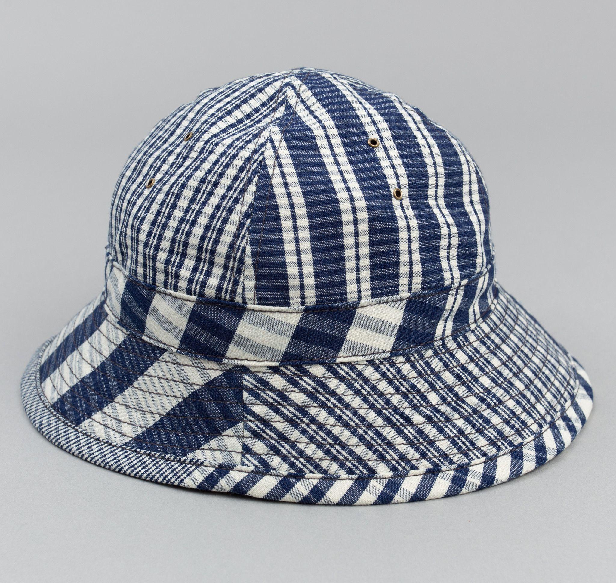 Non-Repeating Check Oxford Daisy Mae Hat 412e3acee81b