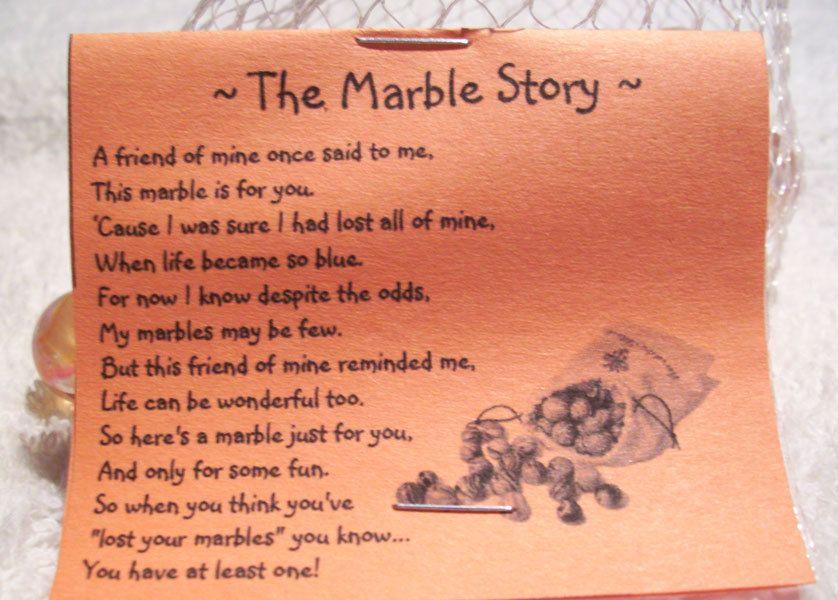 Gag Gift Lost Your Marbles Story Novelty Joke Gag Gift