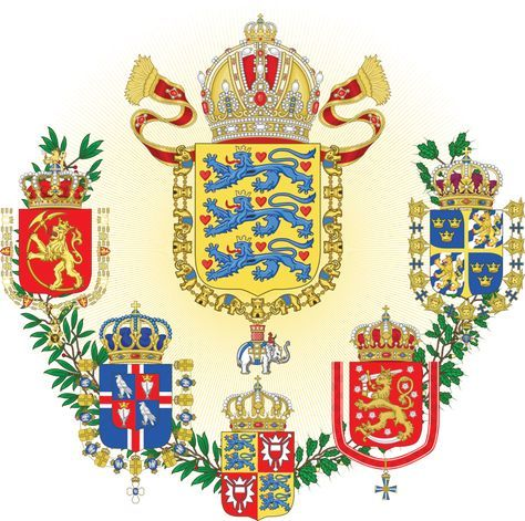 Middle Coat Of Arms Of The Scandinavian Empire By Regicollis Deviantart Com On Deviantart Coat Of Arms Heraldry Arms