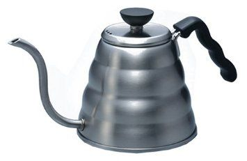 Hario Buono Drip Kettle similar to a tea pot but it has a
