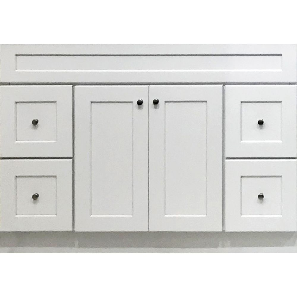 Ghi Arcadia White Shaker 48 Vanity Bathroom Vanity Drawers Vanity Drawers Bathroom Styling