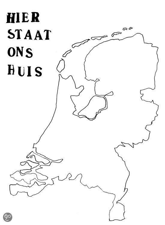 Xxl Kleurplaat Nederland Huis Laten Plakken Waar De Kinderen Wonen Landen