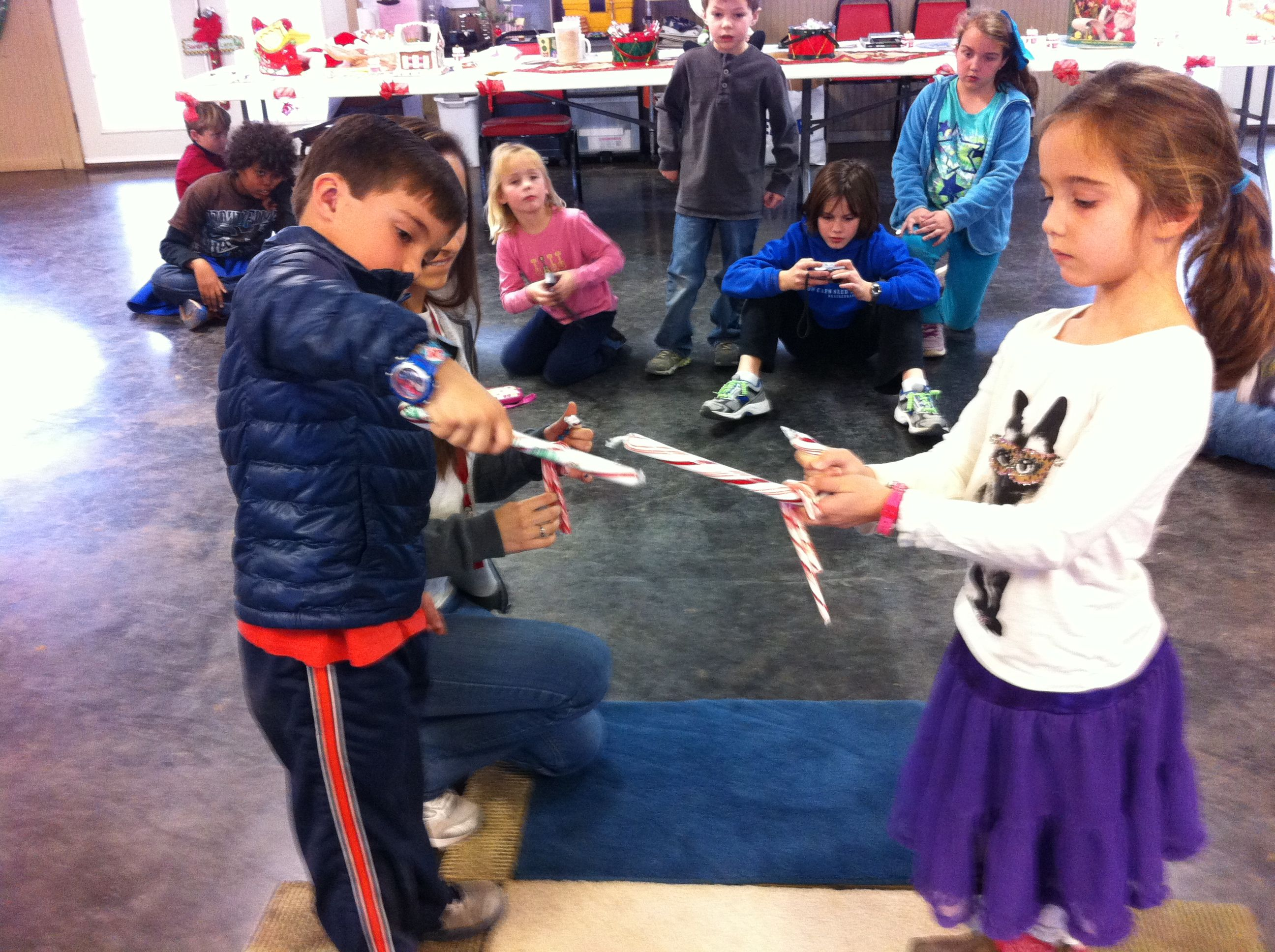 Candy Cane Pass Is A Fun Team Building Activity For Kids