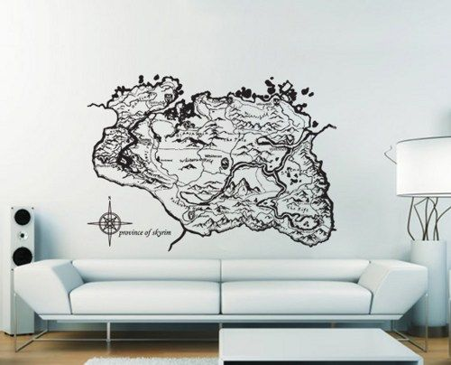 Wall Decal Art province of skyrim vinyl wall art decal