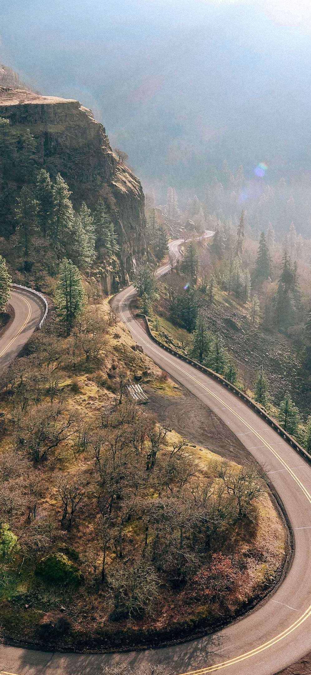 Pin On Desserts Sweet Tooth Hd wallpaper mountain road aerial view