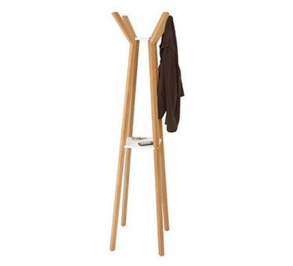 Perchero de pie moderno de madera certificada etiqueta ecol gica percheros pinterest - Percheros modernos ...