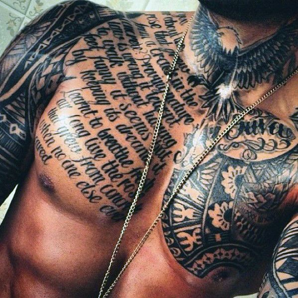 Cover Up Tattoos On Chest For Men