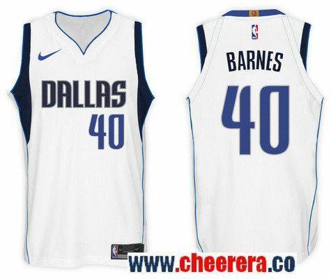 Men s Nike NBA Dallas Mavericks  40 Harrison Barnes Jersey 2017-18 New  Season White Jersey 742d8a9d3
