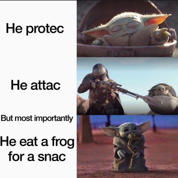 Baby Yoda Mandalorian Funny Star Wars Memes Yoda Meme Star Wars Jokes