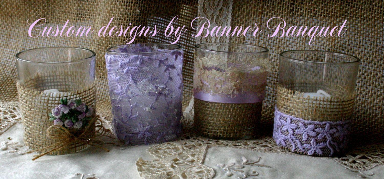 Weddings Lavender Burlap