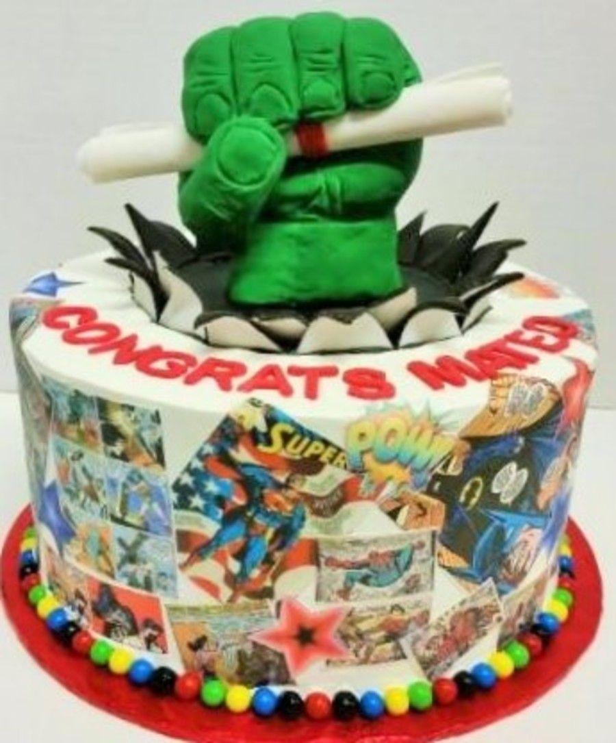 Comic Book Graduation Cake With Images Graduation Cakes