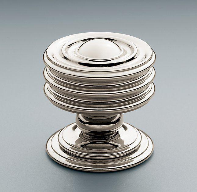 Maddox Knob in polished nickel by Restoration hardware #knob ...