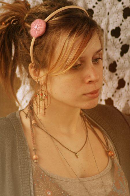 sparkling wildwood headband in pink