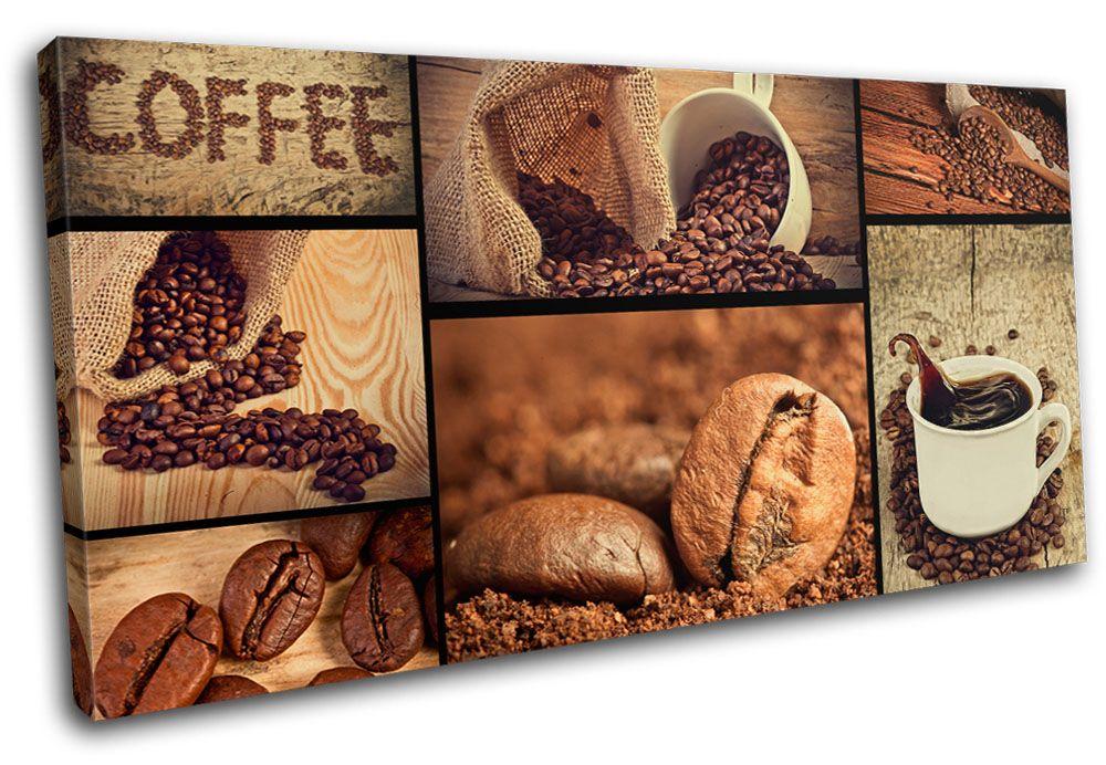 Coffee Wall Art coffee shop food kitchen single canvas wall art picture print va