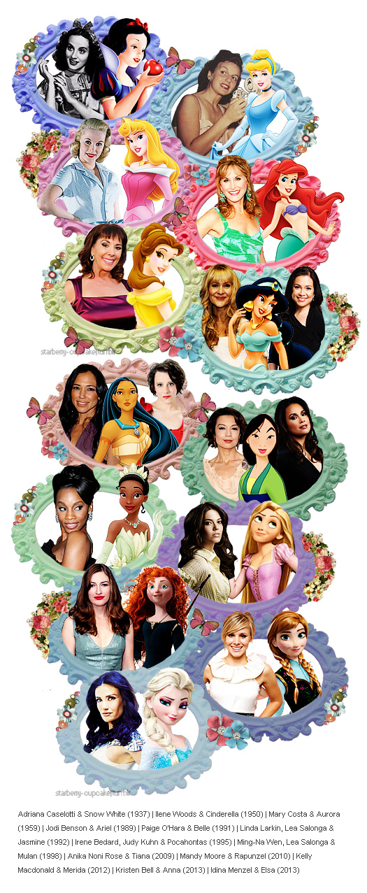 The Disney Princesses and their voice actors! :) | Walt