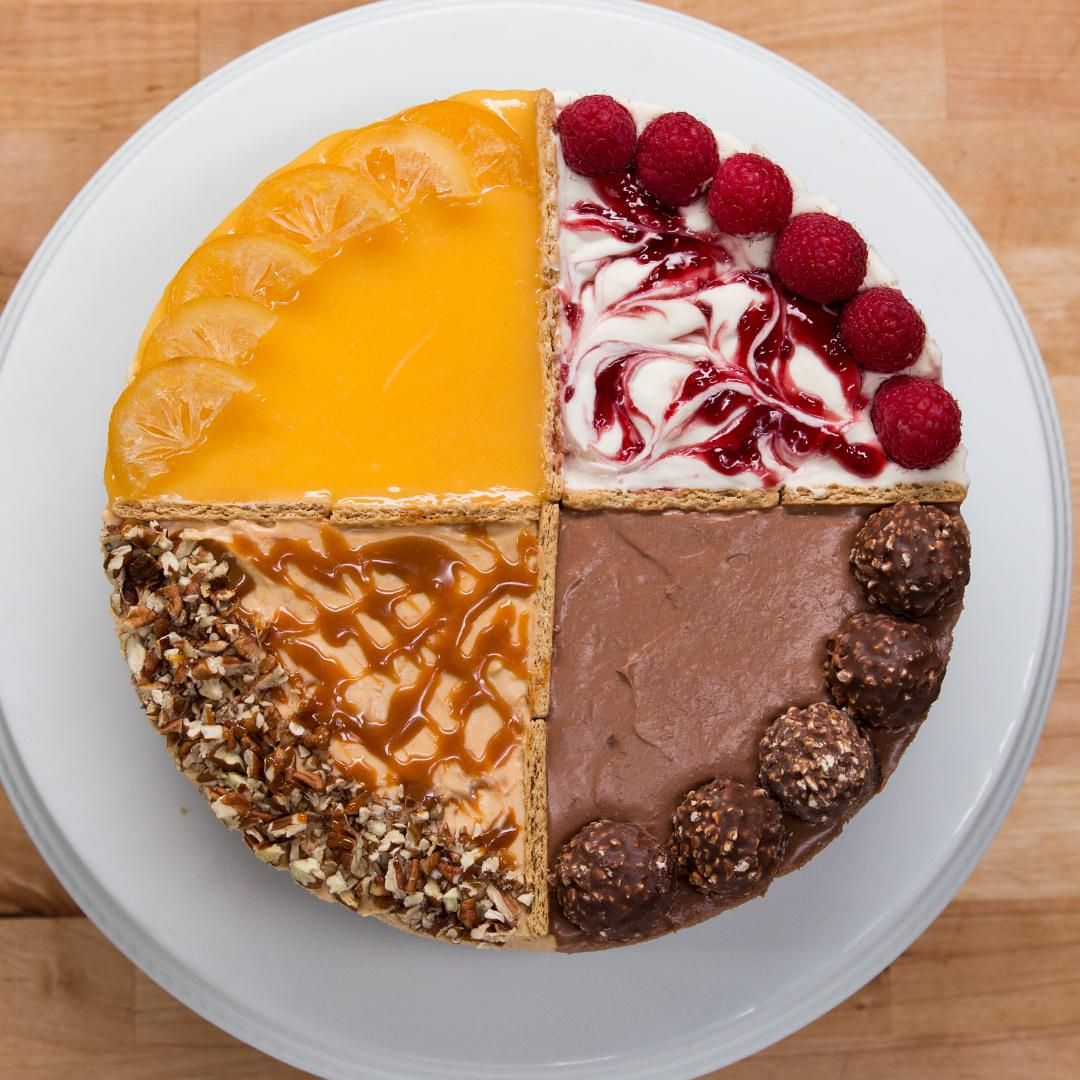 Photo of 4-Flavor Cheesecake Recipe by Tasty