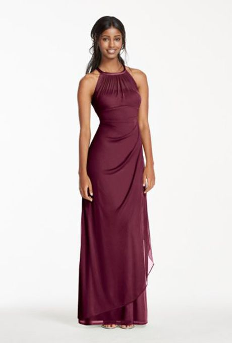 93a1b64111 23 Burgundy Bridesmaid Dresses Perfect for a Fall Wedding in 2019 ...