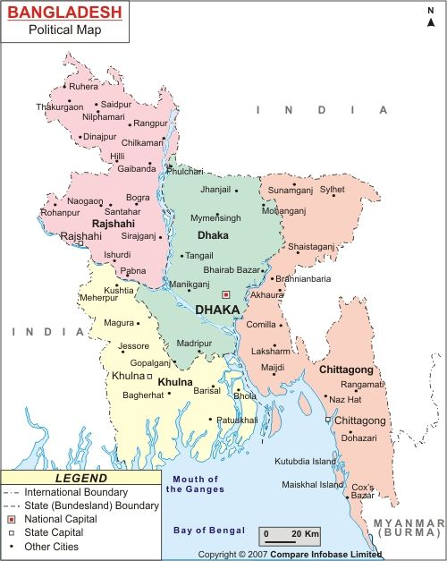 Districts Map of Bangladesh all districts information Mapping
