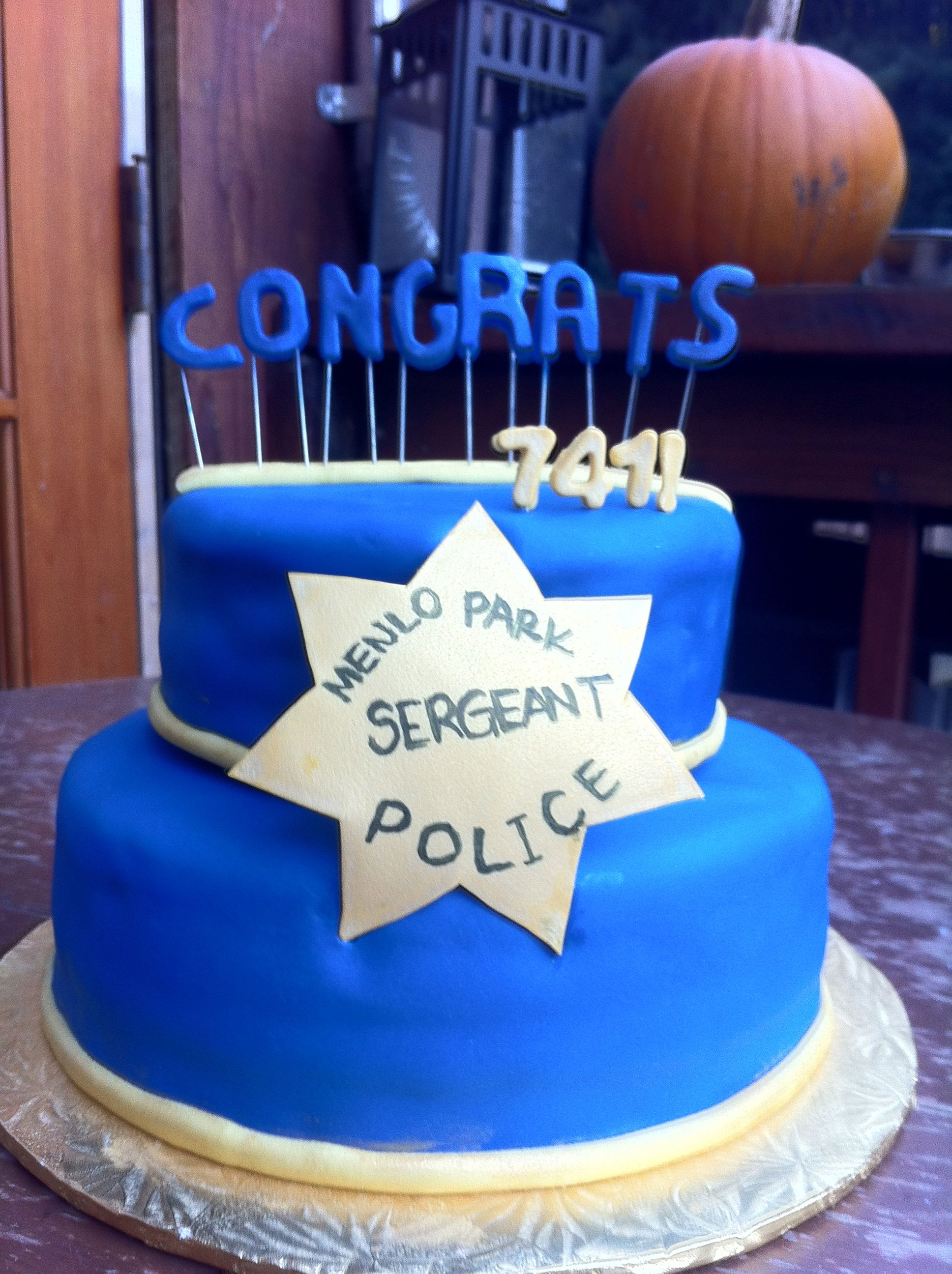 Police Sergeant Retirement Cake Retirement Cakes Cake