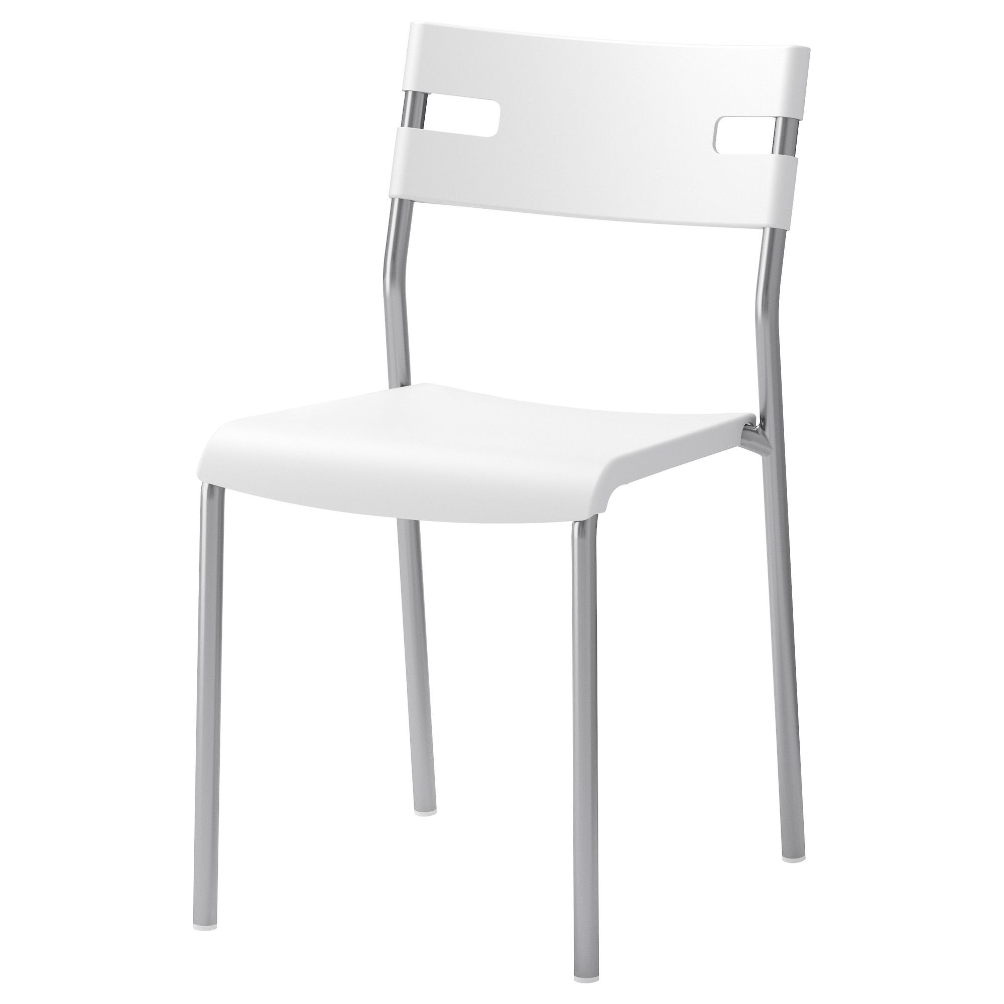 LAVER Chair   IKEA; $10; Chrome And White, Supposedly Goes With Table.