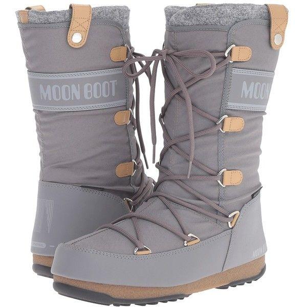 bcaa1871e8bf6 Tecnica Moon Boot Monaco Felt (Grey) Women's Cold Weather Boots ...