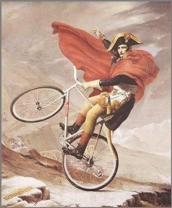Napoleon on a bike