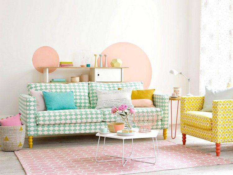 Wand streichen: Muster und 65 Ideen für einen neuen Look ...