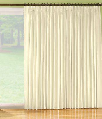 Black Out Pinch Pleat Slider Panel Sliding Glass Door Curtains Patio Door Curtains Sliding Glass Door