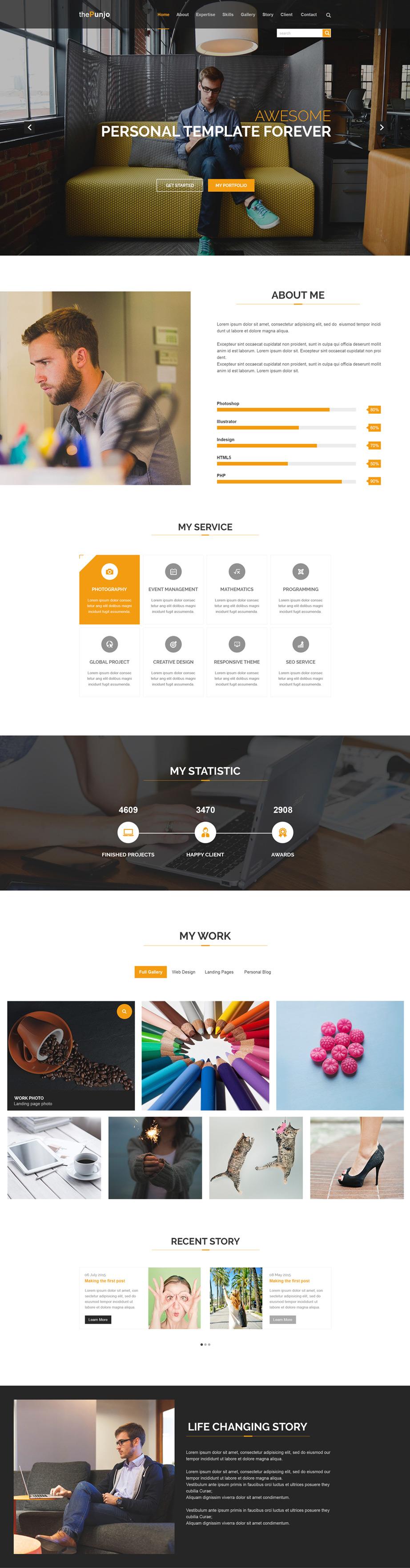 Free Portfolio Website Templates (PSD Вебдизайн, Дизайн