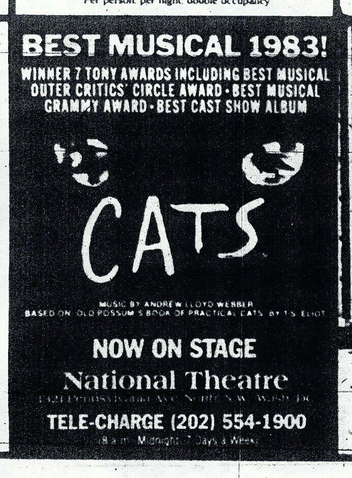 Promotional Ad for the 1984 Premiere Washington D C