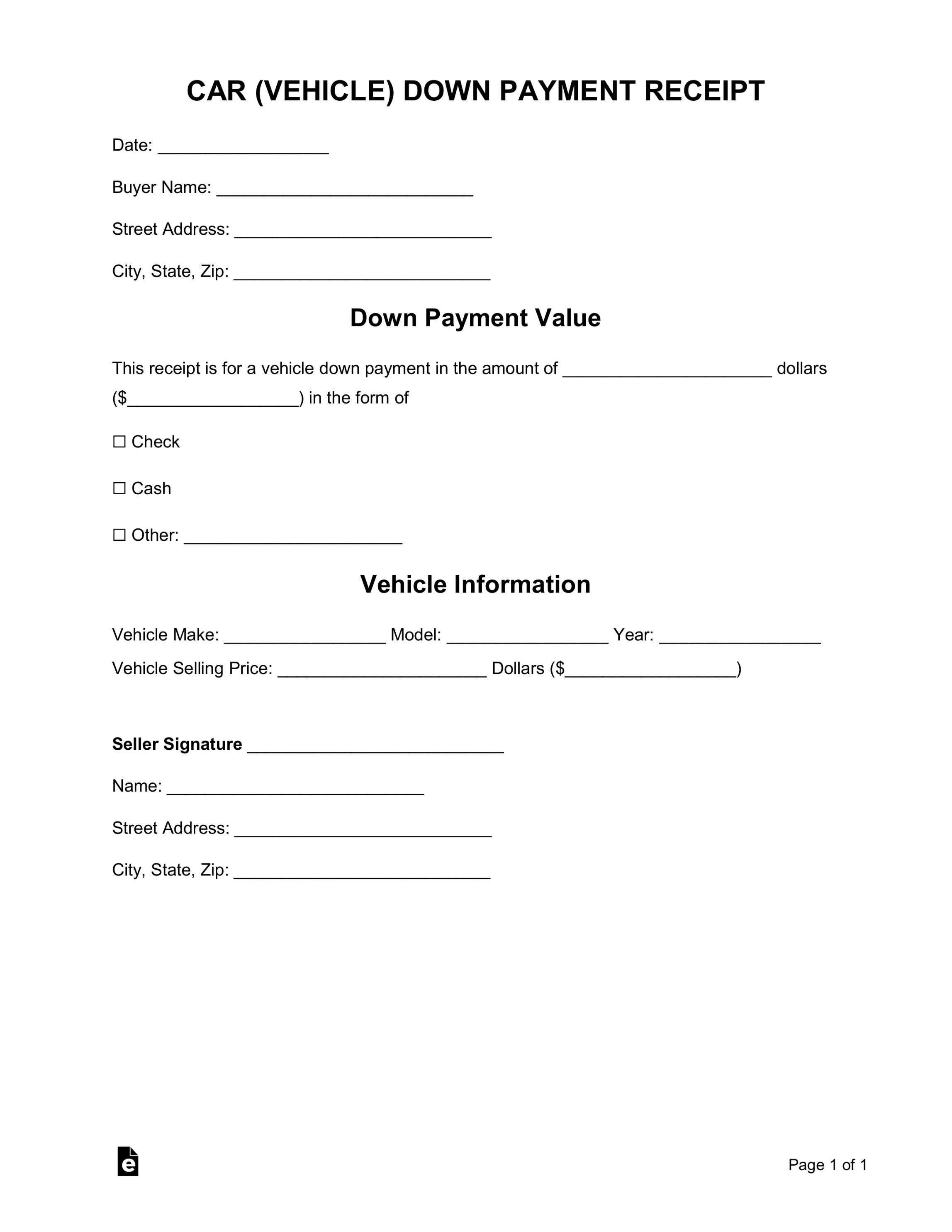 Get Our Free Auto Deposit Receipt Template Car Payment Receipt Template Invoice Template