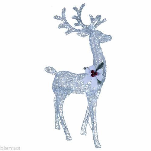 4 ft silver buck reindeer led lighted outdoor holiday christmas silver buck reindeer led lighted outdoor holiday christmas lawn decoration aloadofball Image collections