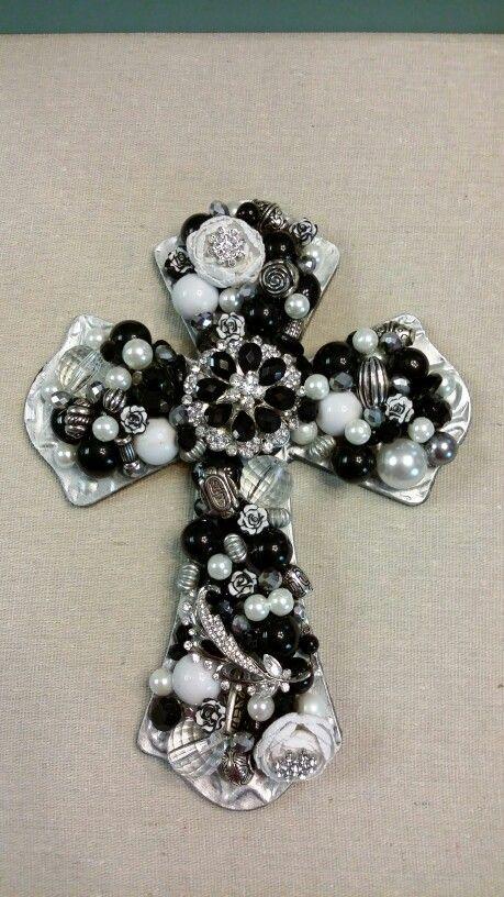 Black & White vintage cross by Rosie's Blessings & Gems $55
