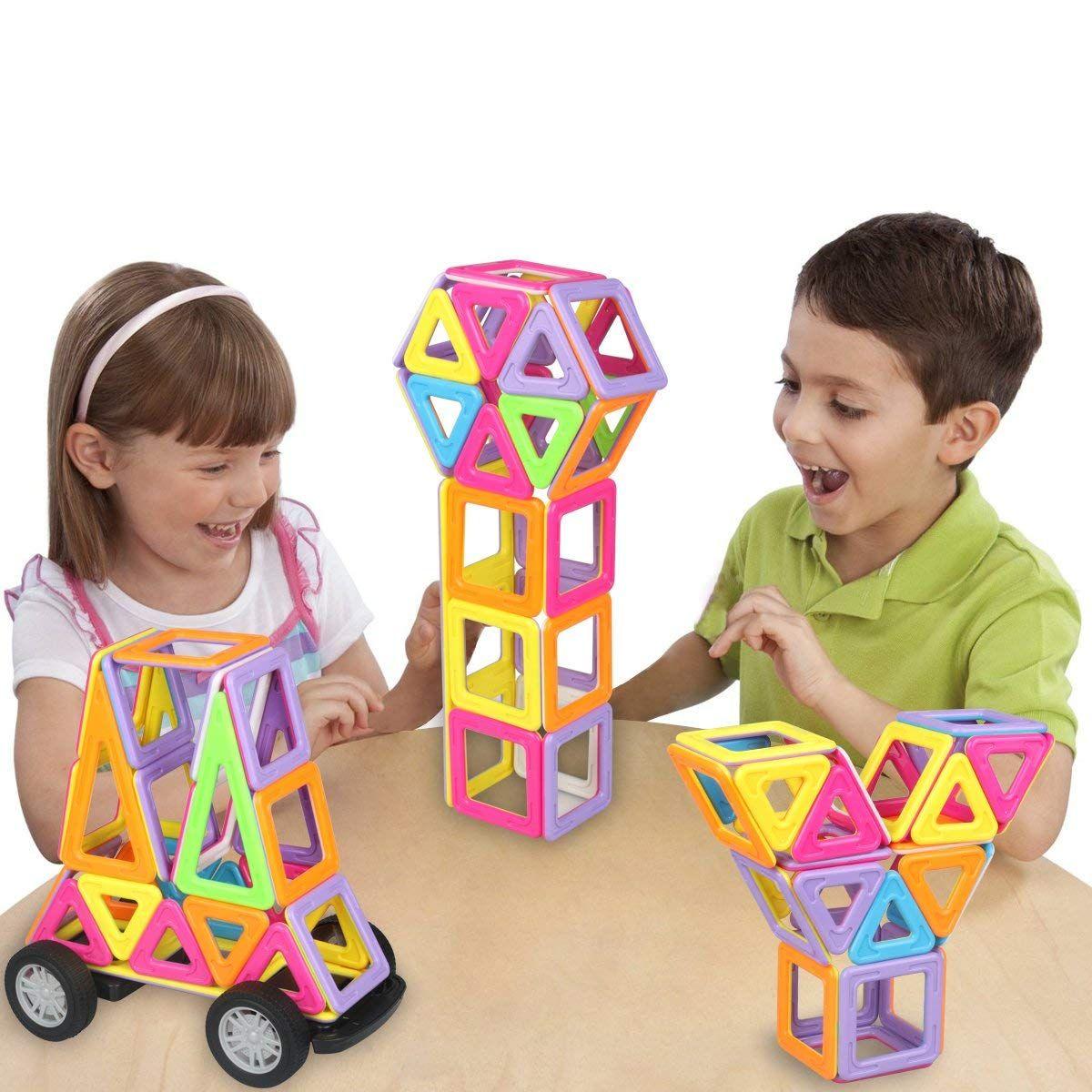 77 Pcs Magnetic Building Blocks Construction Set Toys And