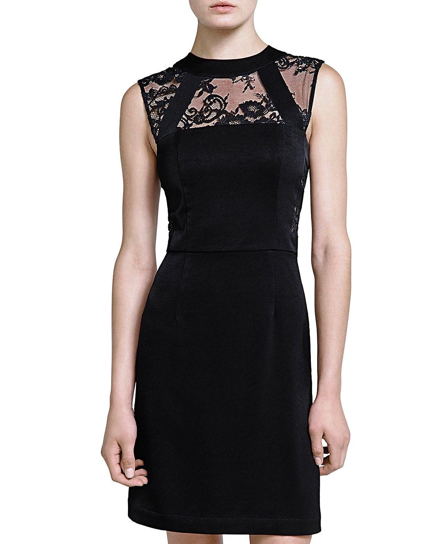 ce898448fe9 The Kooples Lace Neck Crepe Dress | Black Dresses | Crepe dress ...