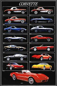 Chevrolet Corvette Grand Sport Car Large Poster Art Print in multiple sizes