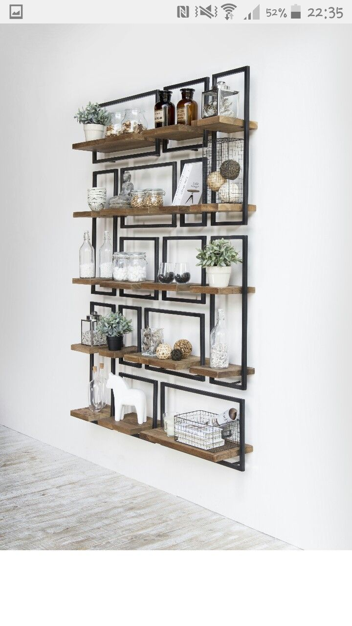String Regal Rabatt Union Rustic Langridge Metal Frame Wall Shelf Könyvespolcok In