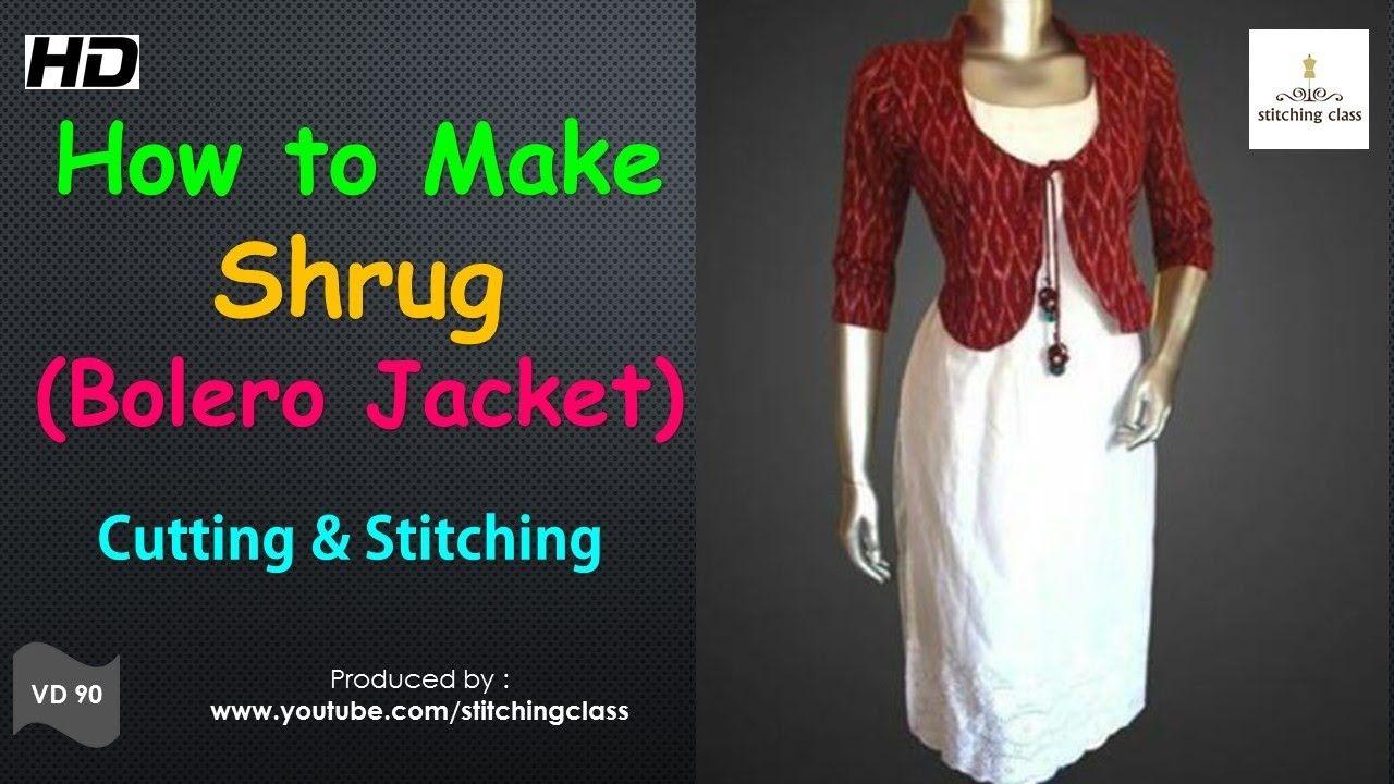 How to make a Shrug ( Bolero Jacket ) Cutting and Stitching ...