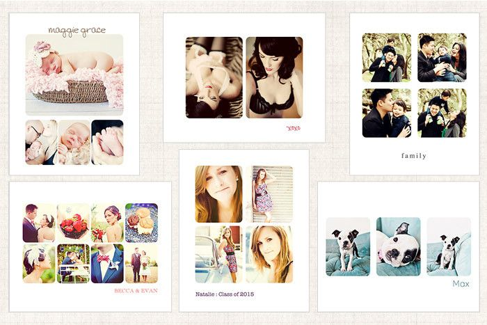Collage Storyboard Photoshop And Indesign Templates For