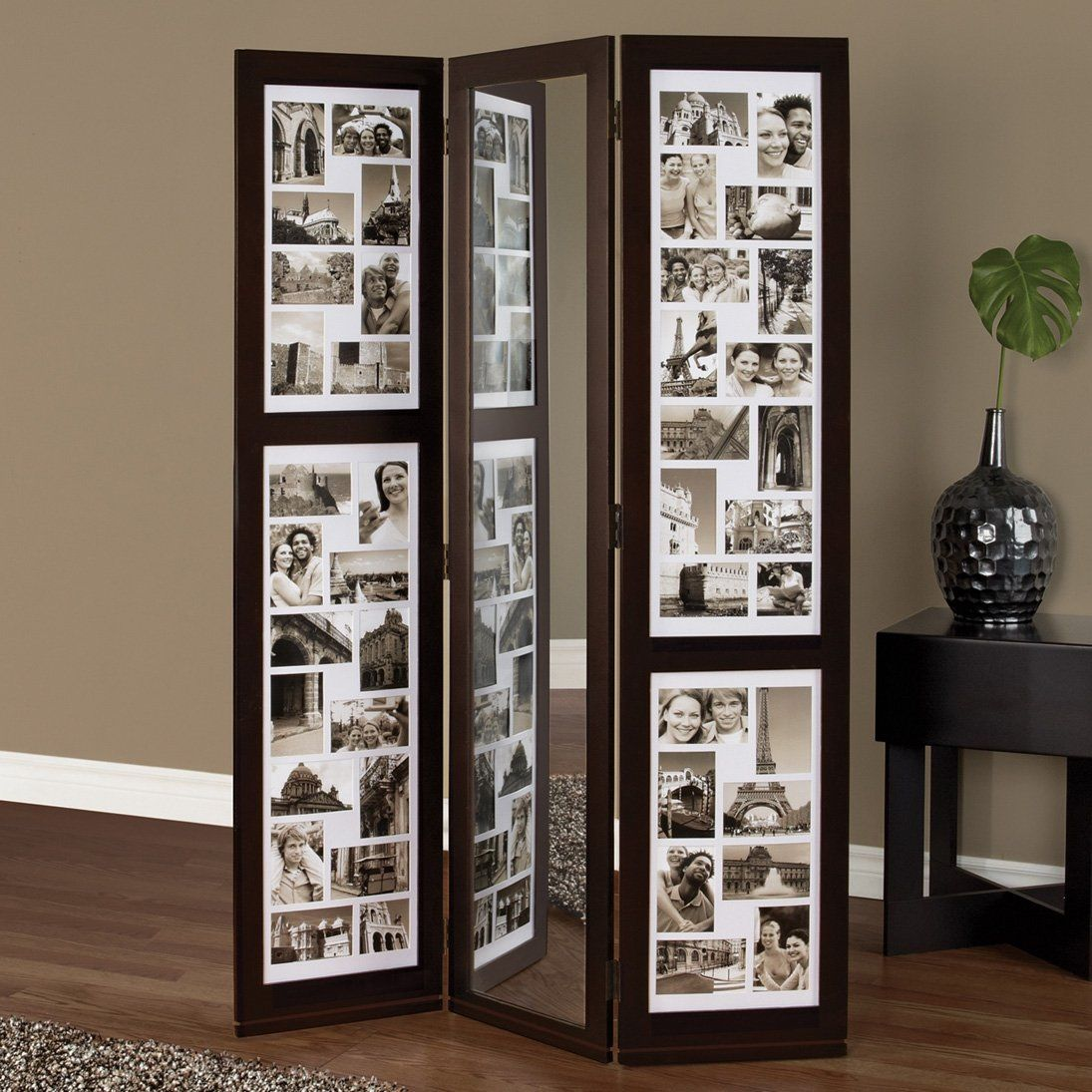 Preston mirror photo room divider fill it with pics of for Todo decoracion hogar