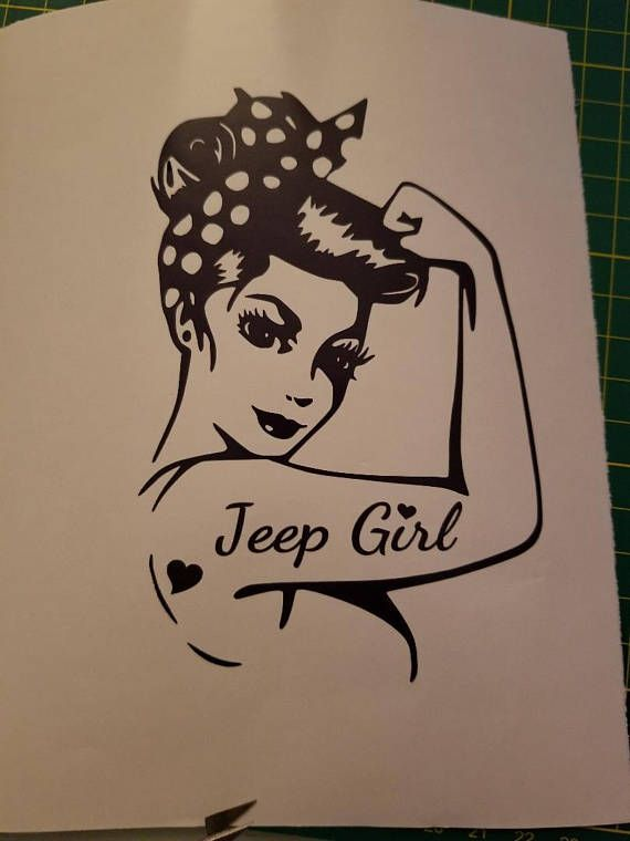Awesome Rosie Jeep Girl Decal For Your Jeep Made Of High