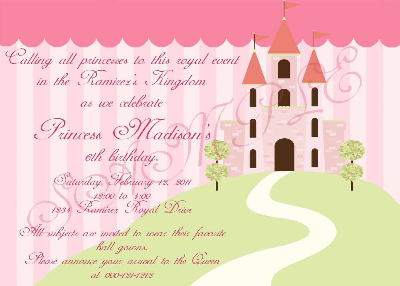 Disneys princess inspired birthday invitation 1400 via etsy disneys princess inspired birthday invitation filmwisefo
