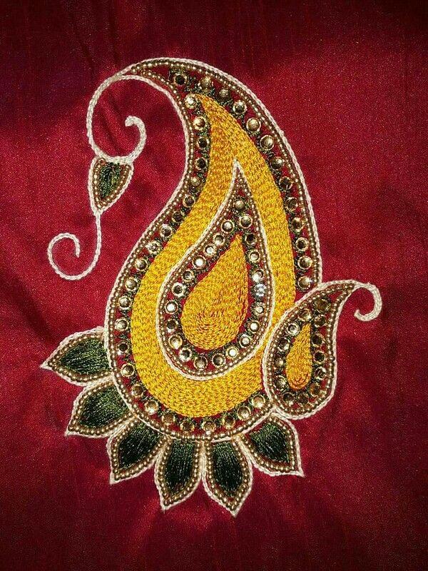 Pin by Deepa Praveen on aari designs   Bordado em pedraria ...