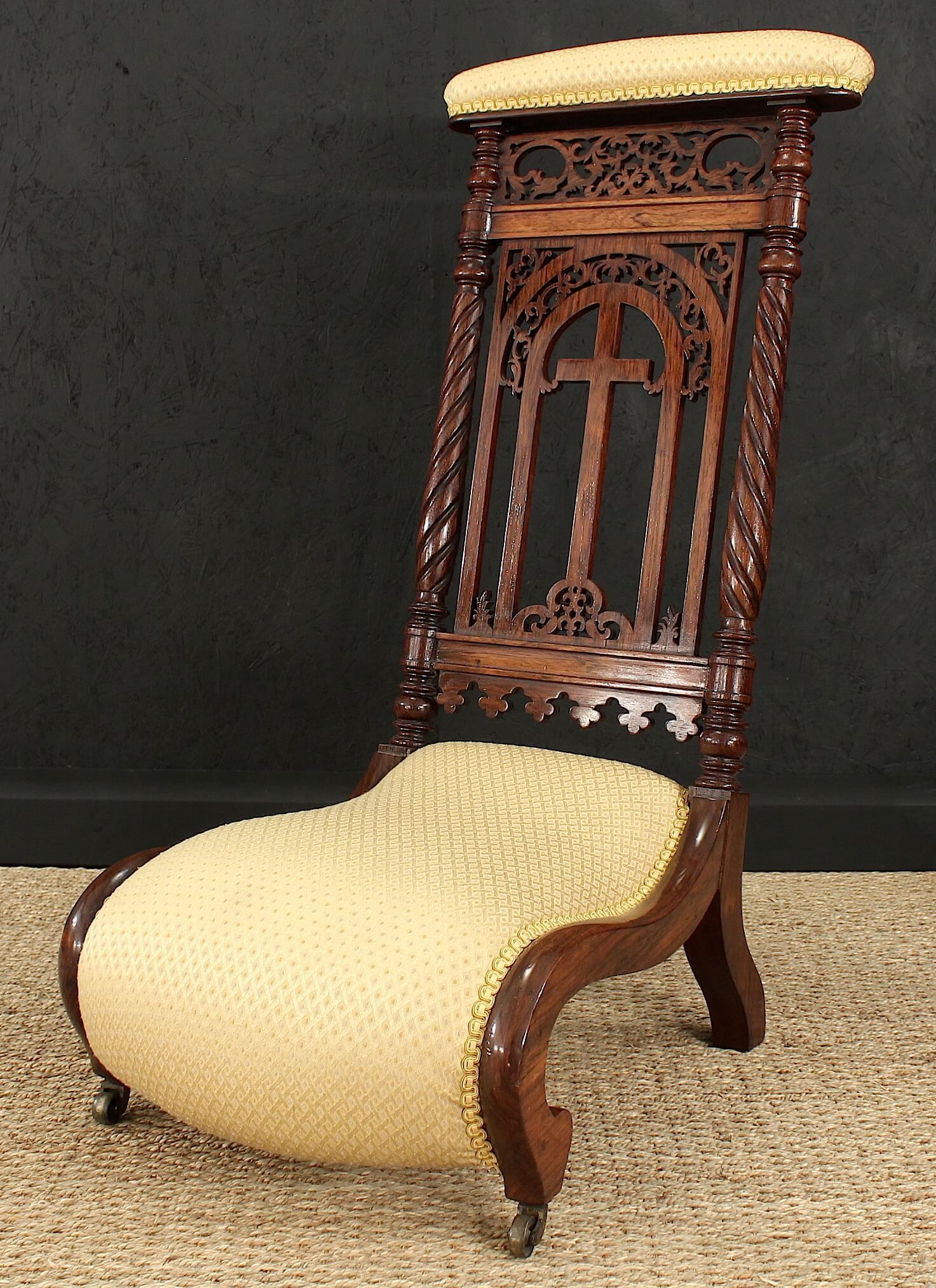 Rosewood Prie-dieu (Prayer Chair) - Gilboy's - Rosewood Prie-dieu (Prayer Chair) - Gilboy's Prayer Chairs