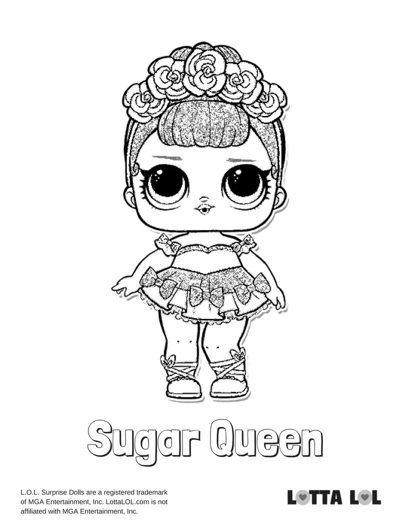 Sugar Queen Coloring Page Lotta Lol Lol Dolls Coloring Pages Kids Printable Coloring Pages