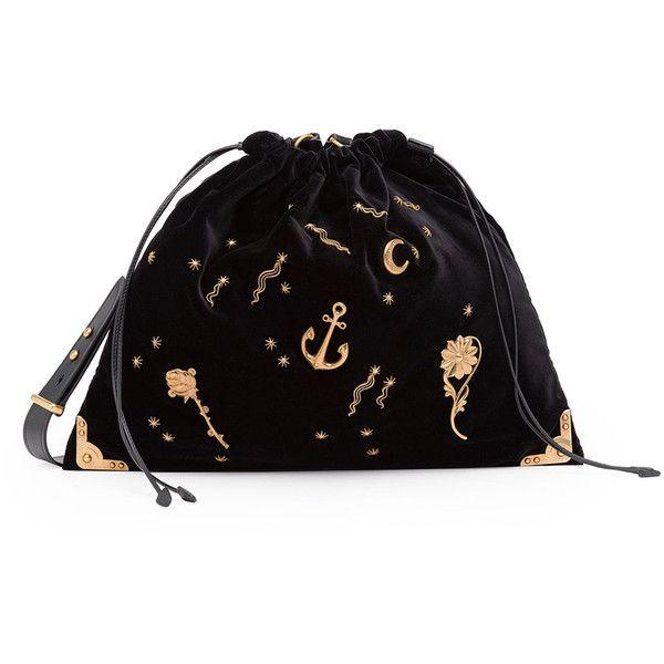 Prada Large Astrology-Embellished Drawstring Hobo Bag ( 1 d99a9f6207693