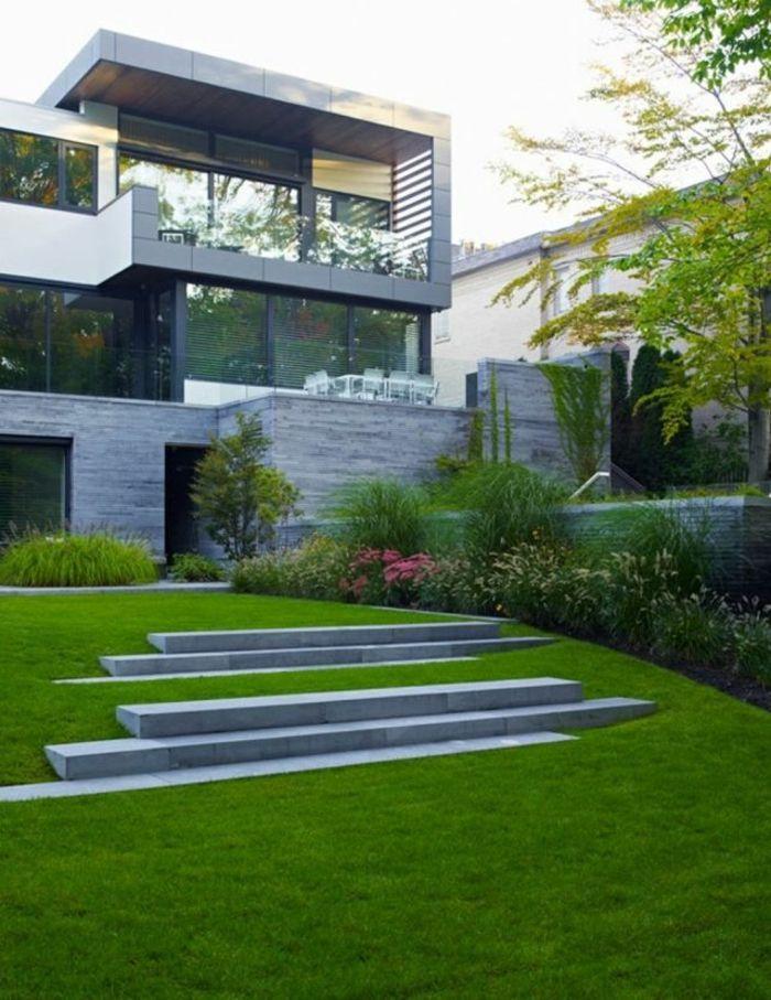 le jardin paysager tendance moderne de jardinage. Black Bedroom Furniture Sets. Home Design Ideas